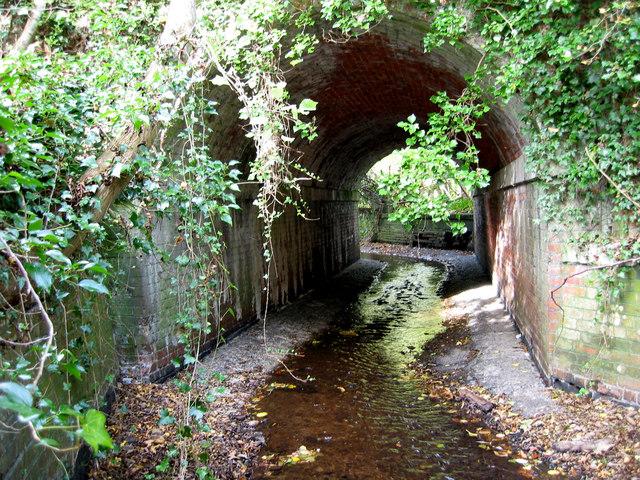 Old railway bridge over stream