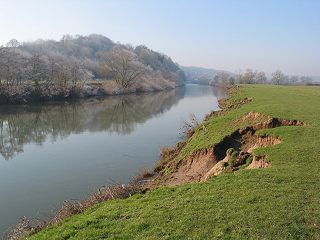 Erosion of the river bank