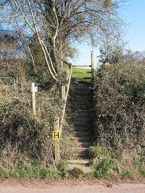 Steps on the footpath