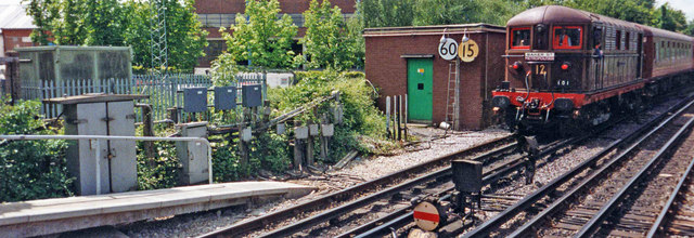 Sarah Siddons approaching Amersham Station, Buckinghamshire