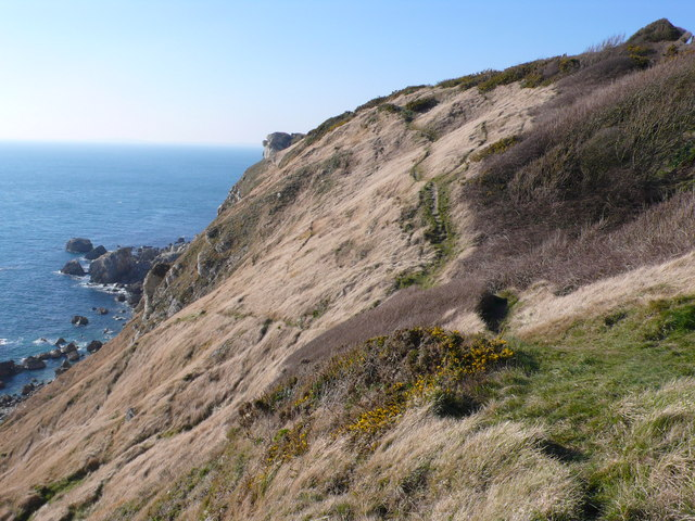 Cliff top path just west of Stair Hole