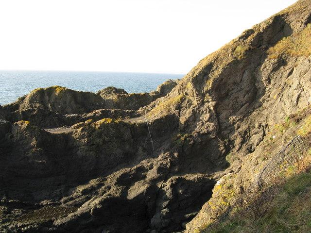 Part of Elie Chain Walk near Kincraig Point