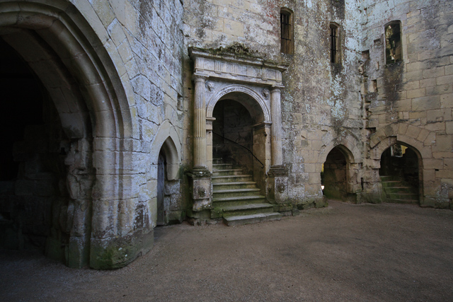 Old Wardour Castle ruins - the Courtyard