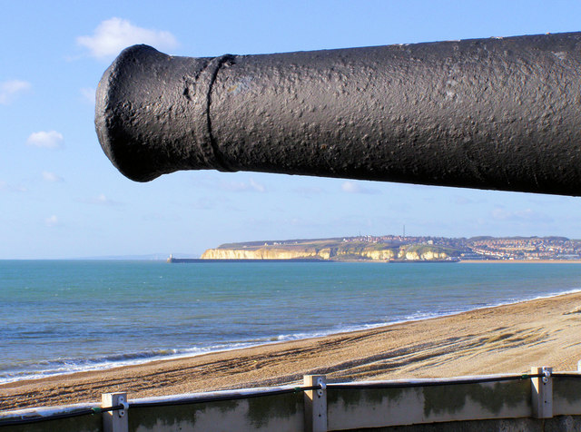 Newhaven from the roof of Seaford Martello Tower