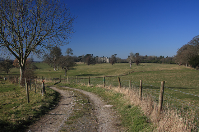 Distant view of New Wardour Castle