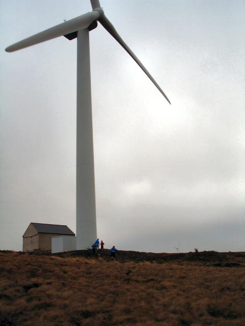 Turbine No. 1 at EON's Bowbeat windfarm