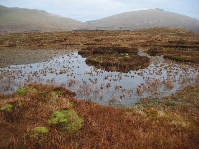 The lochan on Beinn an Lochain