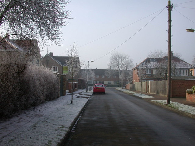 Frosty morning on Lovell Road