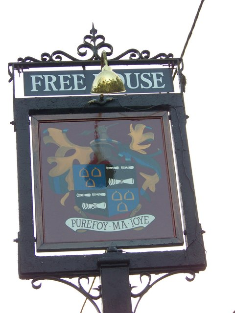 Sign for the Purefoy Arms, Preston Candover