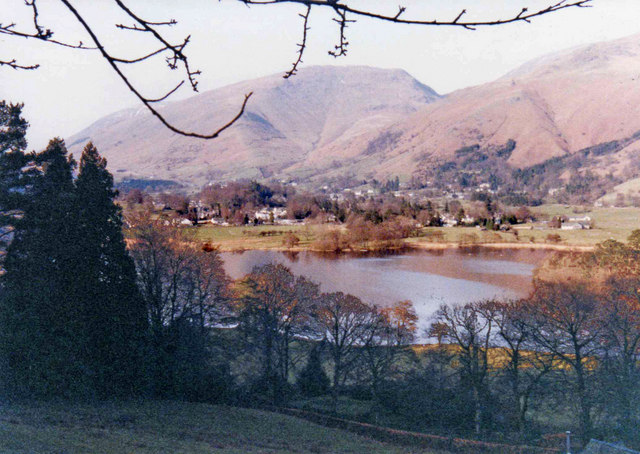 Grasmere shoreline and lake from West side, Cumbria