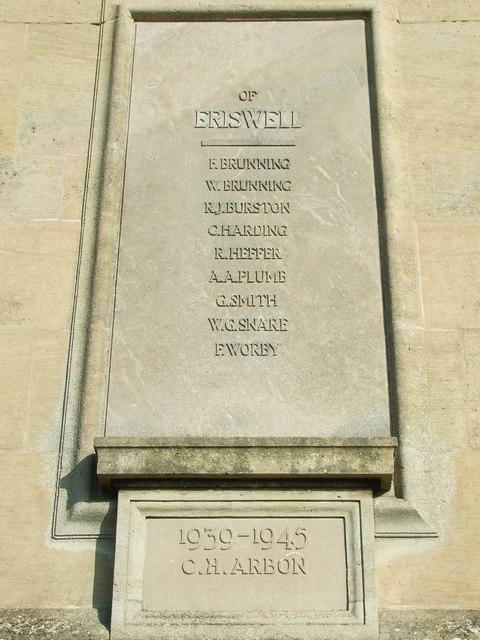 Elveden war memorial