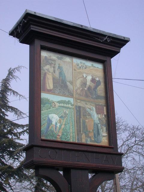 Cottenham Village Sign - detail