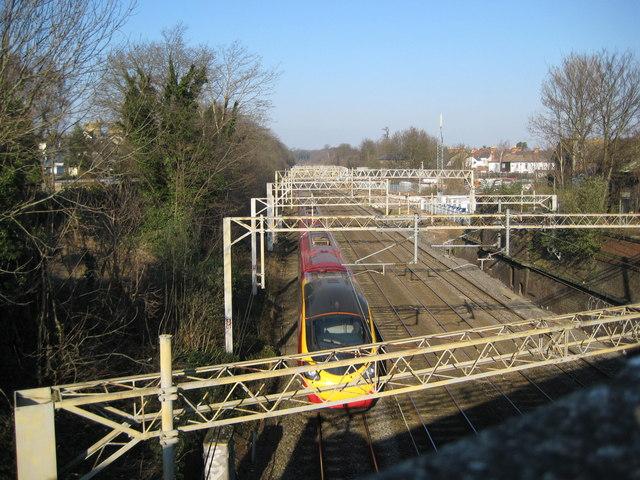 West Coast Main Line railway in Watford