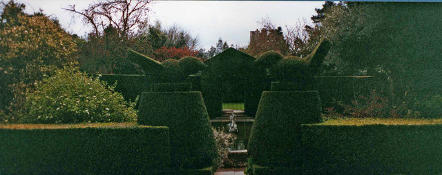 Topiary at Hidcote Manor Garden, Gloucestershire