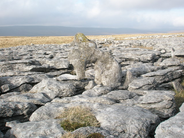 Limestone sculpture on Twisleton Scars