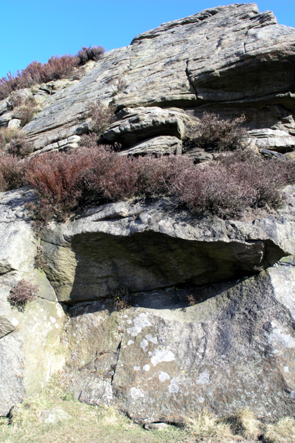 The rock face, Stanage Edge