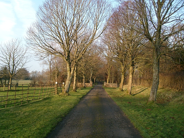Public Footpath leading from Scaleby Castle