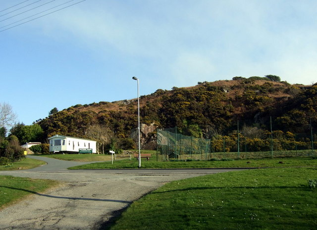 Bwlch Mawr tennis courts and Castell