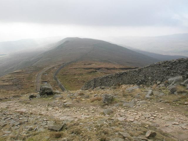 Ridge wall below the summit of  Whernside