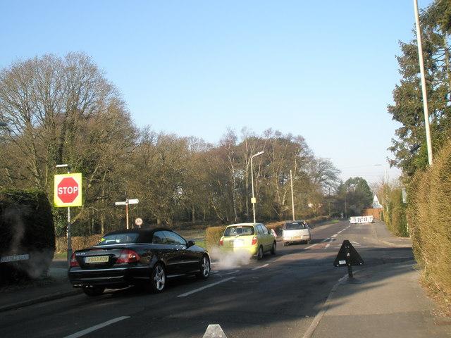 Smoky car near Durford Road