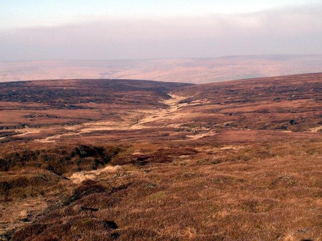 Moorland below Bleaklow Stones