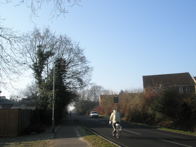Looking along Pulens Lane towards The Heath