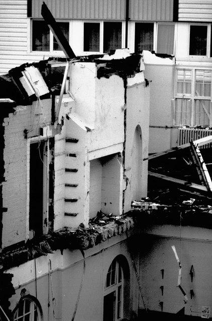 Demolished interior, Torquay Boys' Grammar School