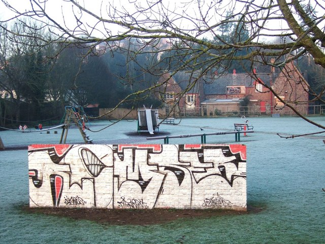 Graffiti on wall, Path Meadow, Exeter