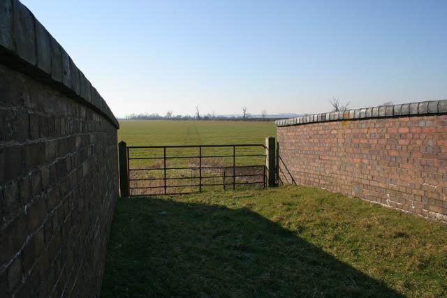 Across the old railway