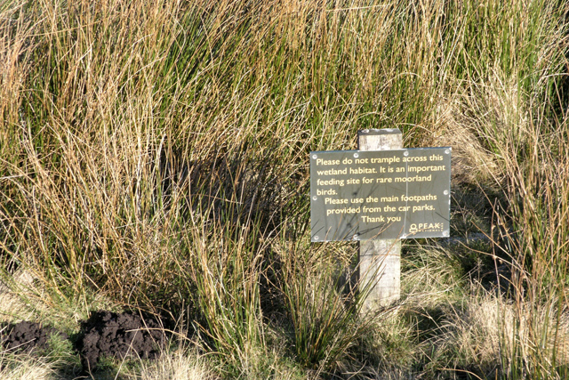 Polite notice, below Stanage Edge