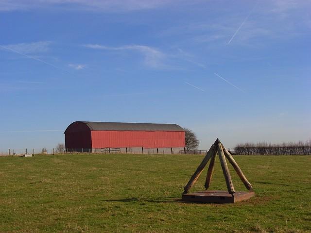 Barn and pyramid, Bockhampton Down