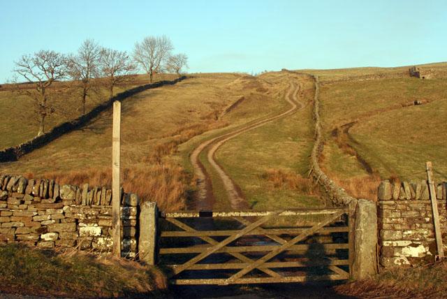 Gate onto footpath