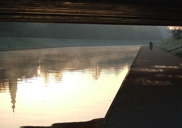 Beneath the railway bridge