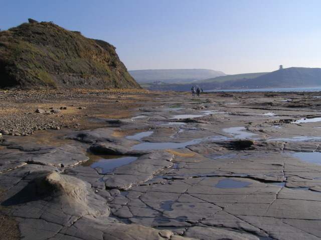 The Flats at the western end of Kimmeridge Bay