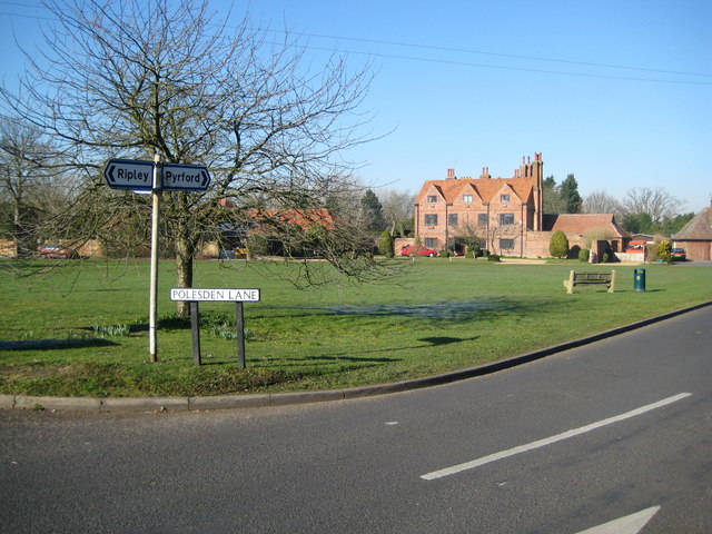 Send Marsh: The village green and the Manor House