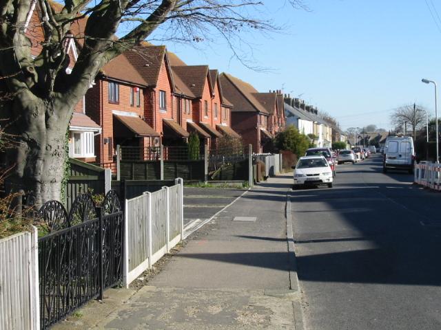 View along Church Lane, Deal