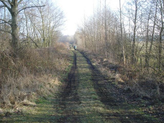 Old railway trackbed near Ashley