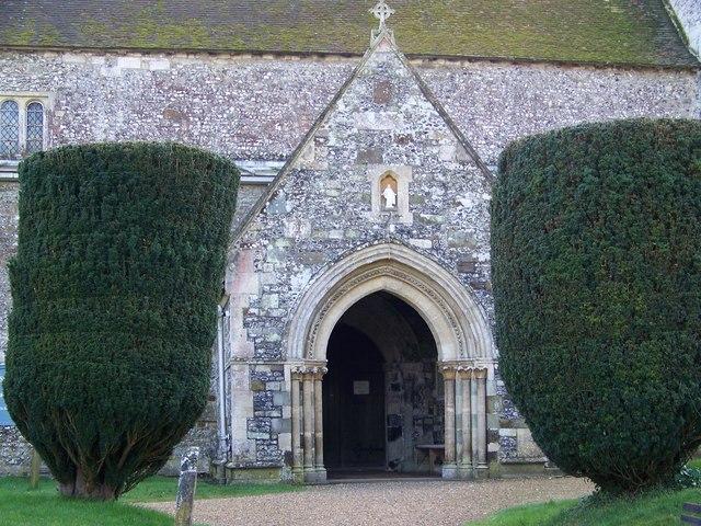 Porch, St Mary and St Bartholomew, Cranborne