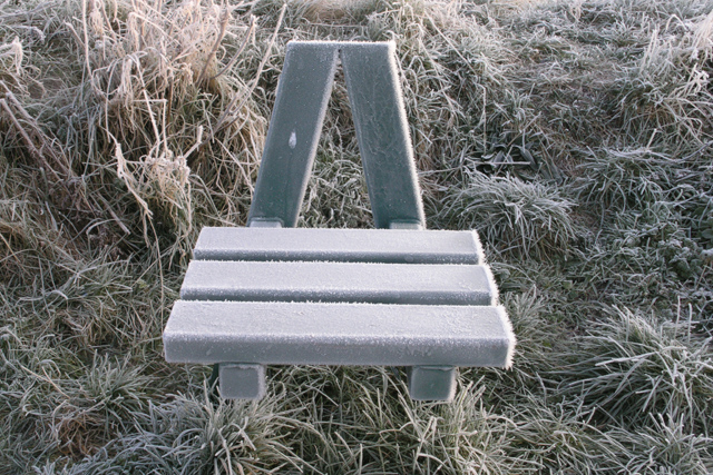 Frosted seat, Attenborough Nature Reserve