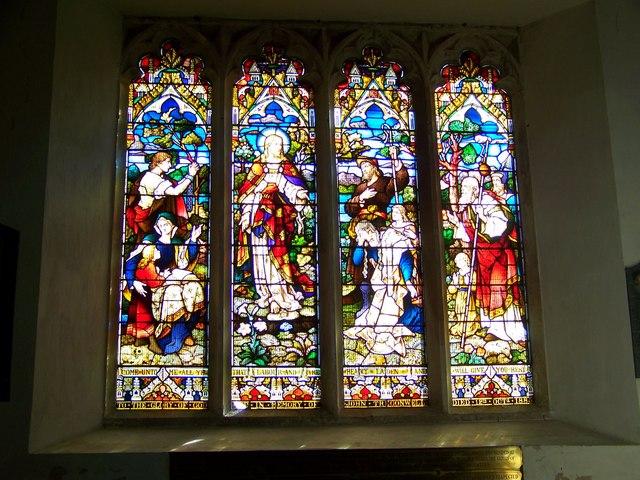Stained Glass Window,  St Mary and St Bartholomew, Cranborne