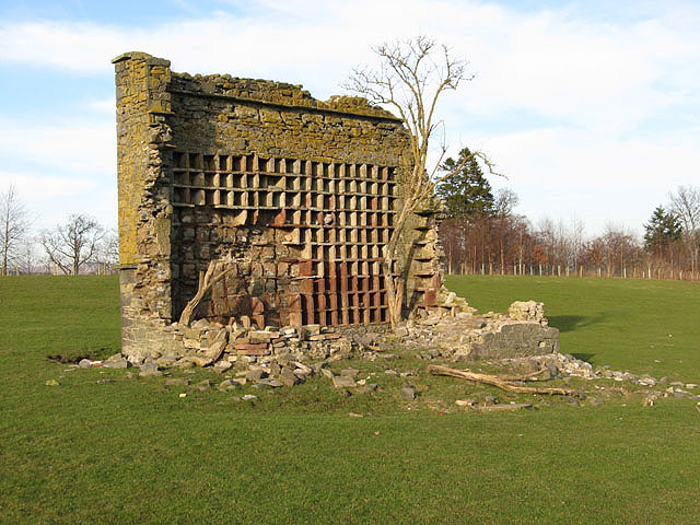 The remains of a stone dovecote on Murieston Hill