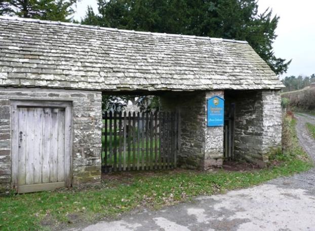 Gateway to Llanstephan church