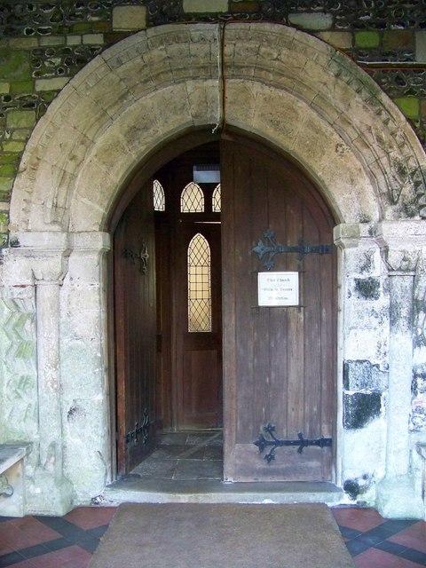 Doorway, St Mary and St Bartholomew Church, Cranborne