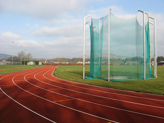The hammer cage at Tweedbank Sports Complex