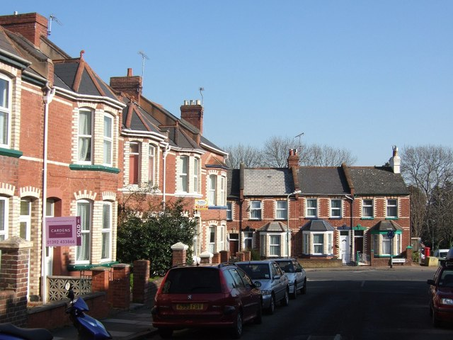Junction of Park Road and Commins Road, Exeter