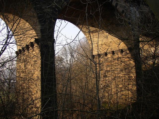 Detail of railway viaduct, Thornhills Beck Lane, Clifton