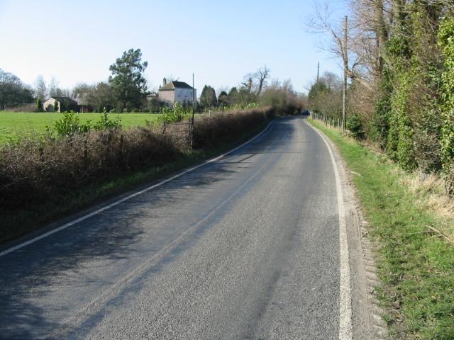 Looking W along Fleming Road
