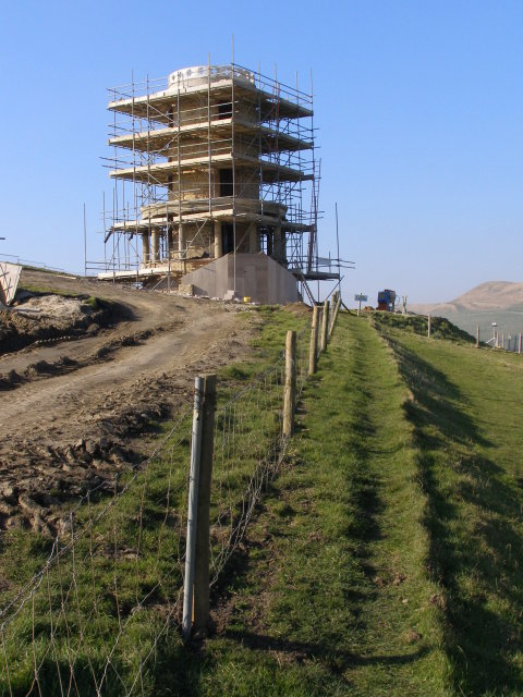 Clavell's Tower under reconstruction