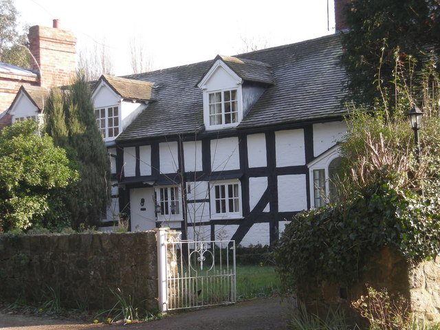 Half-timbered house at Cressage