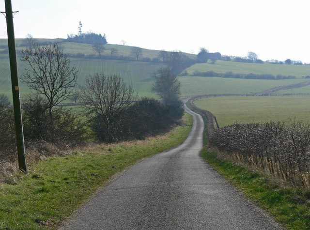 Hyde Lodge Road towards Whatborough Hill
